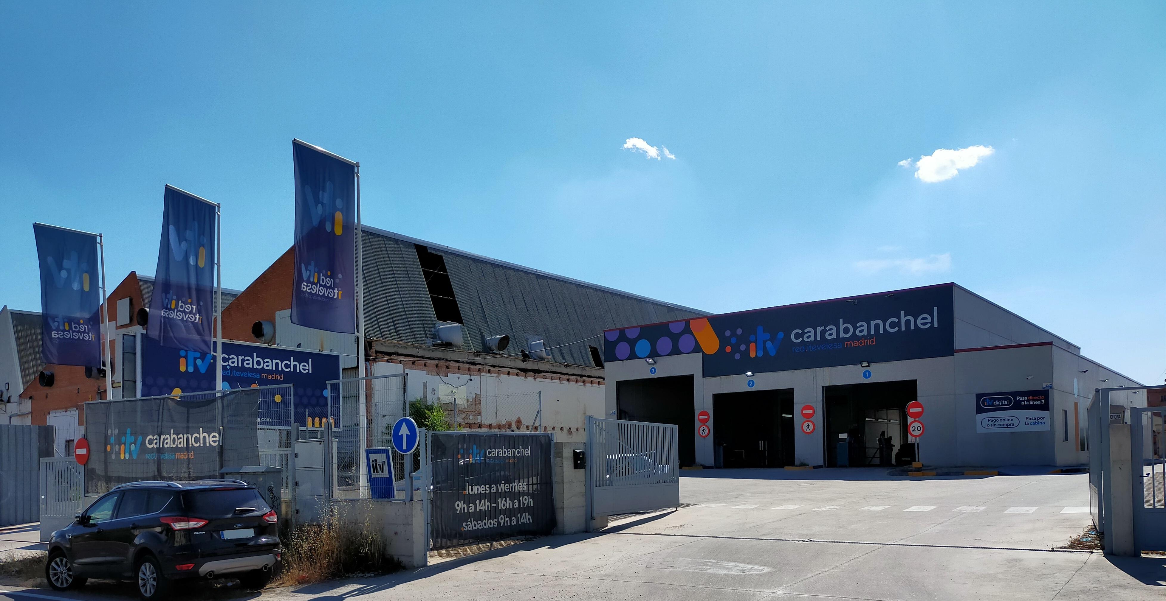 Estación ITV Carabanchel Red Itevelesa con horarios y procedimientos