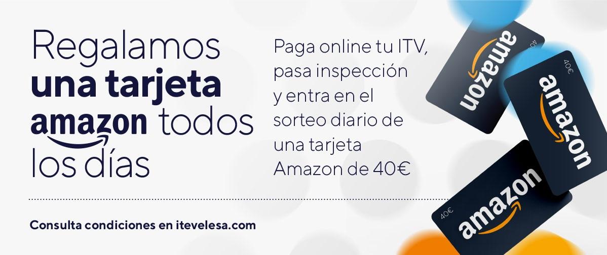 Regalamos una Tarjeta Amazon todos los días: paga online y pasa tu ITV
